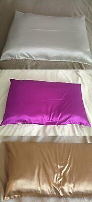 New White & Purple & Coffee Natural Luxury 19 Momme Charmeuse SILK Pillowcase