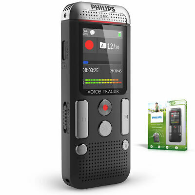 Philips Dvt2510 8Gb Voice Tracer Digital Recorder/2 Mic Stereo Recording/Sound