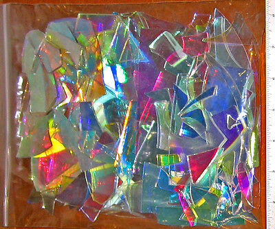 Dichroic Hot Glass Scrap One1#bag Coe33 Borosilicate Boro Glassblowing Flamework