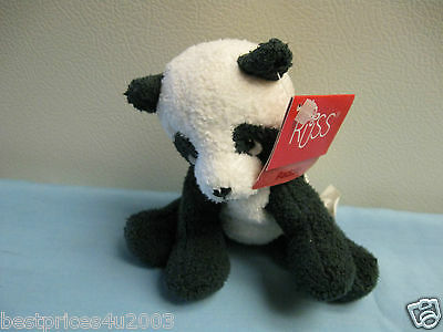 RUSS BERRIE PADDIE PANDA BEAR BEANIE ANIMAL WITH HANG AND TUSH TAGS
