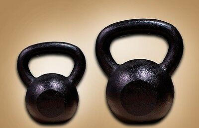 New MTN 20+25 Lbs Black Painted Kettlebells Combo Weight Dumbbells