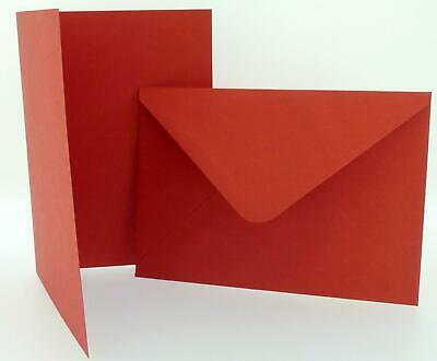 Pack of Craft UK Red Blank Christmas Cards Envelopes 4 x 4 5 x 7 6 x 6 C6/A6