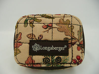Longaberger Autumn Path Pill Box Case with ID Holder