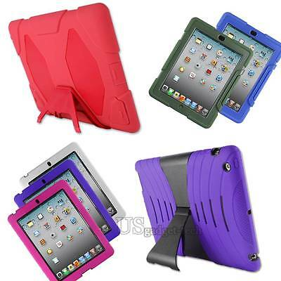 For Apple iPad 2 3 4 rd Case Ballistic Tough Jacket Rugged Hard Stand Shockproof