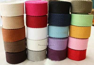 10yard Cotton Woven Tape Webbing Strap Ribbon Roll Handbag Wedding Home Decors