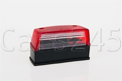Trailer Truck Number Plate Light RED 102x57x44 mm with 2x0.75 mm² wire