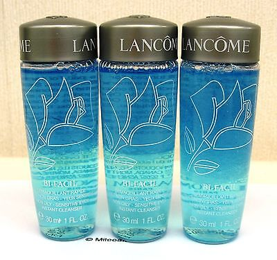 Lancome Bi-Facil 3 x 30ml Travel Size- New