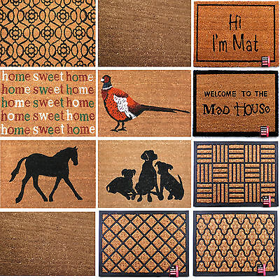 Large Doormats Natural Coir Non Slip Entrance Floor Door Mats Indoor Outdoor PVC