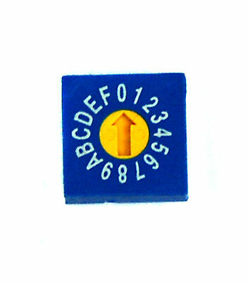 5pc Rotary Dip Switch BCD code ERD-416-RSZ 0~F Scale PCB PIN 1:4 10x10x5mm ECE