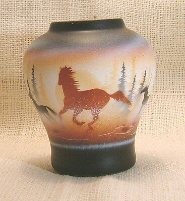 Cedar Mesa Native American Handmade and Painted Pottery Born Free Medium Pot