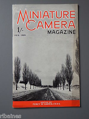 R&L Vintage Mag, The Miniature Camera February 1950, Rollieflex/Postcard Enlarge
