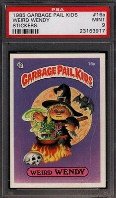 1985 GARBAGE PAIL KIDS STICKERS #16a WEIRD WENDY PSA 9