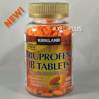 NEW! Kirkland Signature™ Ibuprofen 200 mg IB Tablets, 500 Caplets