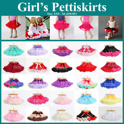 Ruffle Fluffy Pettiskirt Baby Kid Girl  Party Clothes Tutus Skirts Costume 6M-8Y