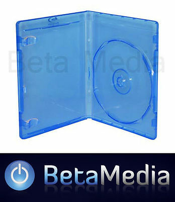 25 x Blu Ray Single 14mm Quality Cases with logo - Australian Standard Size Case