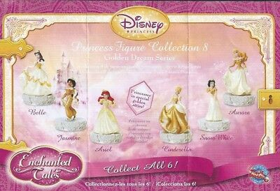 Disney PRINCESS MINI FIGURE COLLECTION 8 COMPLETE SET CAKE TOPPERS RETIRED NEW
