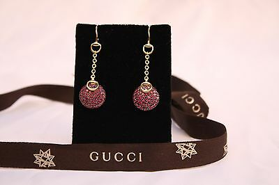 da287f0a98c MAGNIFICENT BRAND NEW Gucci 18K Yellow Gold Diamond Pair Of Earrings ...