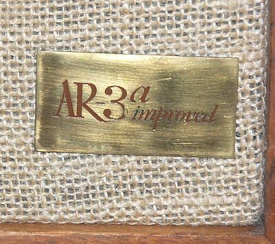 RARE PAIR ACOUSTIC RESEARCH AR 3a-Improved - BEST AR3 Model  ever - superb sound