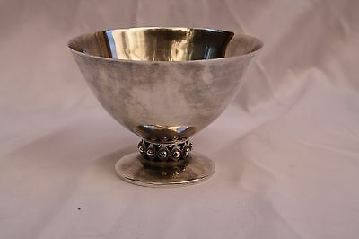Magnificent 1900'S Art Deco Sterling Silver Footed Bowl