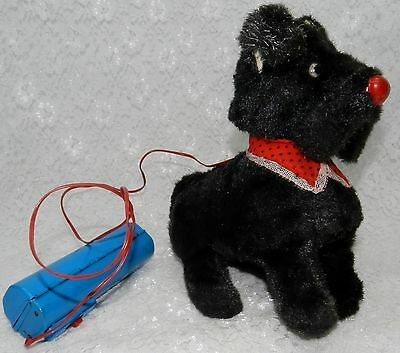 Vintage JAPAN Battery Operated Scottie Dog Toy - Walks - Begs - Barks - so cute!