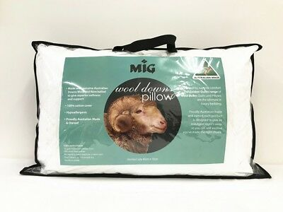 Australian wool blend pillow standard size Australian made!