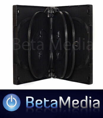 10 x Black 33mm ** HOLDS 10 Discs ** Quality CD / DVD Cover Case