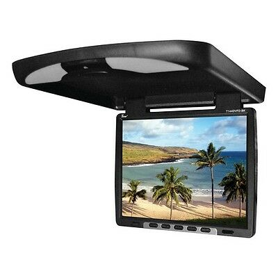 "Tview T144DVFDBK 14"" Flip Down Monitor With Built In DVD Ir/Fm Trans Black"