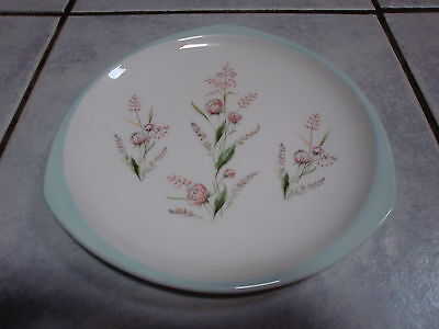 RARE Foley China Triangular Plate SUPER Vintage China with Pink & Pale Green