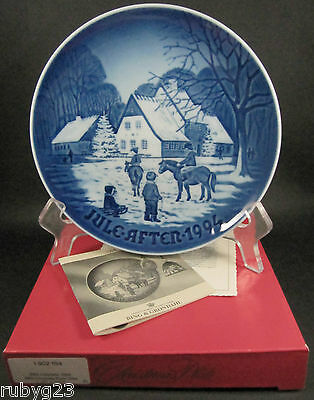 Danish Bing & Grondahl Christmas plate A Day at Deer Park 1994 Edvard Jensen