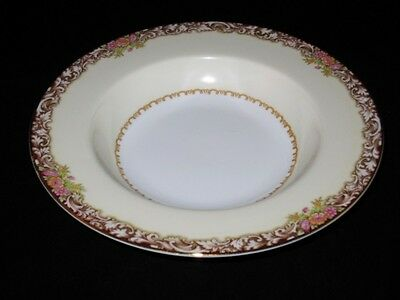 """Noritake HARMONY (RED) 3906 Occupied Japan - 8 1/4"""" Rimmed Soup Bowl"""