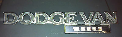 1979 DODGE VAN 100 OEM Used Front FENDER BADGE DODGE VAN 100 SIDE TRIM