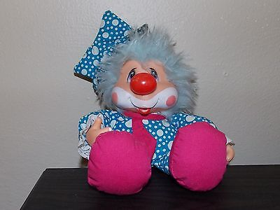 Applause Kippy N Friends Clown Vintage 1983 Plush Vinyl Face Hands Thumb Sucking