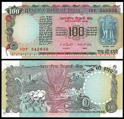 India 100 RUPEES Sign 82 ND 1979 P 86a UNC