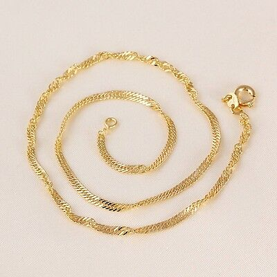 "9ct 9K Yellow ""Gold Filled"" Baby Girl Children NECKLACE CHAIN. L=13.78"" ,614"