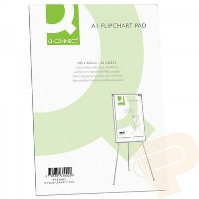 A1 Flip Chart Plain Paper Pad Punched For Flipchart Easels 40 Sheets KF37002