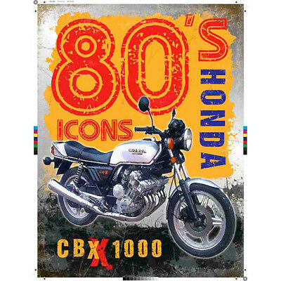 Honda CBX1000 80s Icons Metal Sign 12x16 Vintage Motorcycle Garage Decor