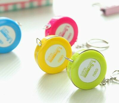 "1.5 m Candy Color Mini Handy Size Retractable Measurement Tape Ruler 60 "" Sewing"