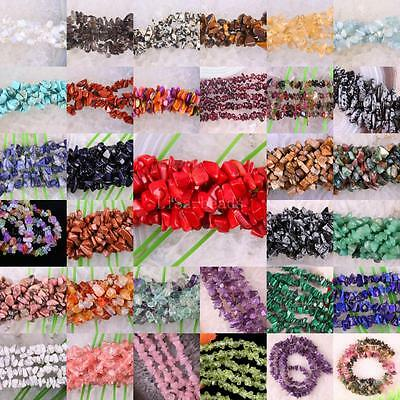 """Mixed Natural Shell Crystal lapis Agate Amethyst Opal Chip Loose Beads 35"""""""