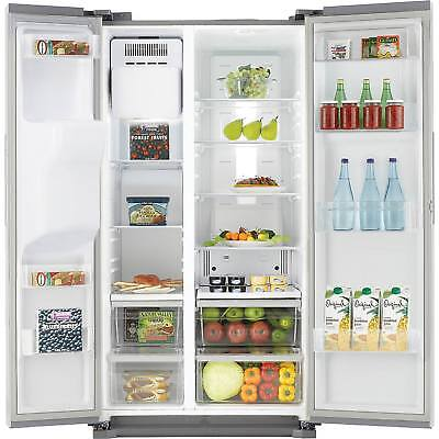 Samsung RS7567BHCSP Freestanding Side by Side American Fridge Freezer in Silver