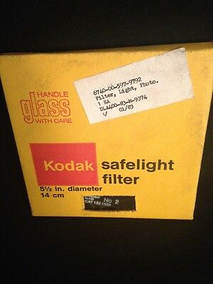 "NEW KODAK Safelight Filter 5.5"" Diameter 14cm No. 2 Cat. 1521525"