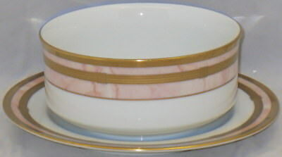 Christian Dior Gaudron-Marbre Rose Gravy Boat With Attached Underplate