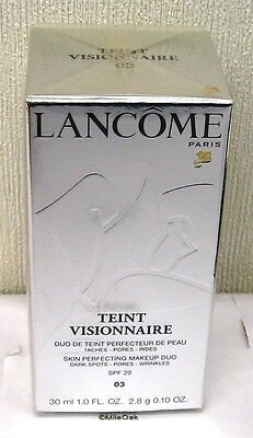 Lancome Teint Visionnaire Skin Perfecting Make Up Duo 30ml Beige Diaphane (03)