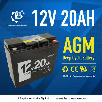 NEW 12V 20AH AGM Deep Cycle Rechargeable Battery 6-FM-20 eBike Scooter Generator