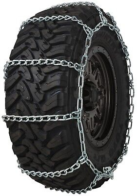 Quality Chain 3228 Wide Base Non-Cam 7mm Link Tire Chains Snow SUV 4x4 Truck