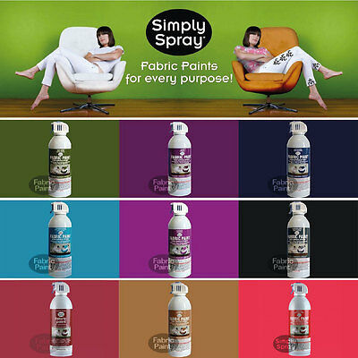 Simply Spray Upholstery Fabric Paint 6 Cans Cushions Lounge Chair Car Seat Rugs