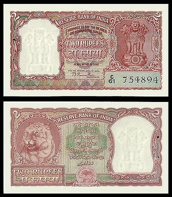 India 2 RUPEES incorrect Hindi Sign 72 P 28 UNC OFFER !