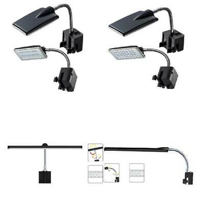 Hidom Overhead LED Clip on Aquarium Fish Tank Lighting Lights Lamp Flexible Arm