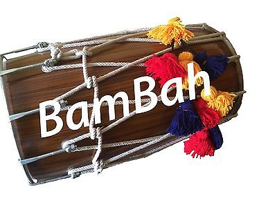 Full size mangowood dhol with all accessories BamBah