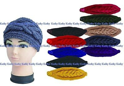 Wholesale Lot 12 PCS HEADWEAR Cable Knit Handmade Crochet Headwrap Headband Gift