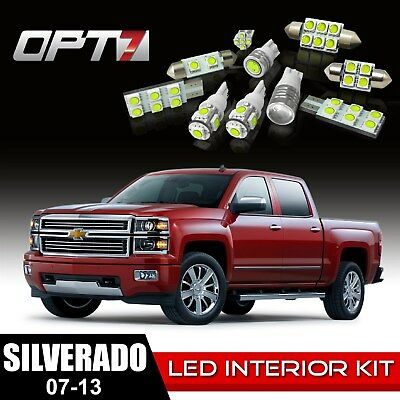OPT7 12pc Interior LED Light Bulbs Package Kit for 07-13 Chevy Silverado ¦ White